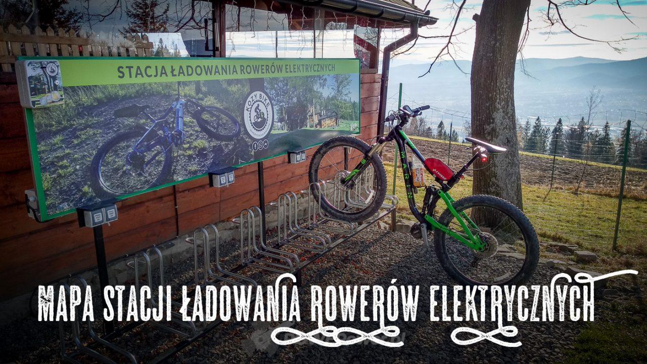 Mapa stacji ładowania rowerów elektrycznych